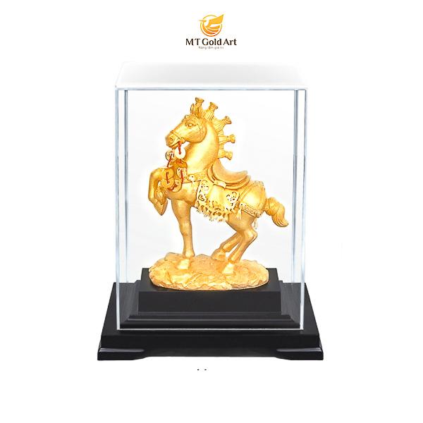 Tượng Ngựa Lộc Mã Dát Vàng 24K