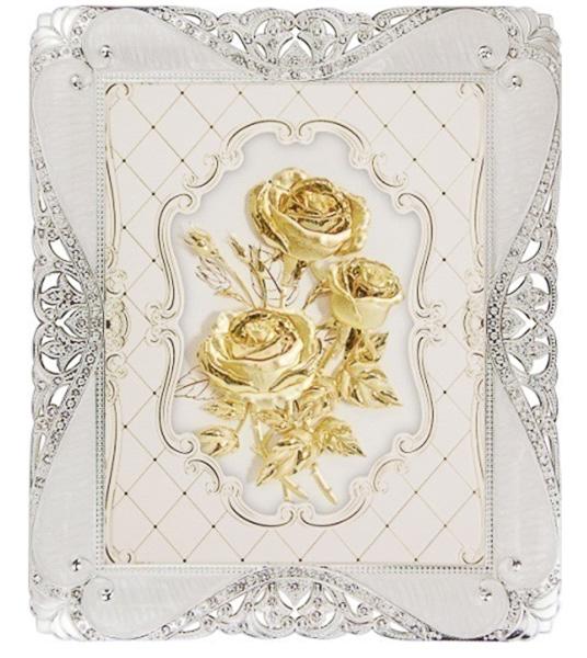 Tranh hoa hồng dát vàng 24k